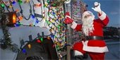 Santa on Garbage Truck Picture