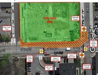 Map of Closure Area
