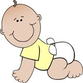 Baby in a Diaper Drawing