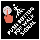 Push Button Sidewalk Logos