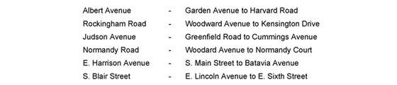 CAP1910 list of streets