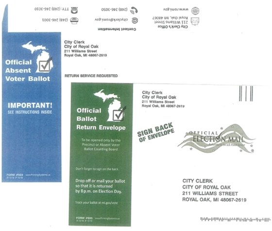 Absentee Ballot Envelope Pictures