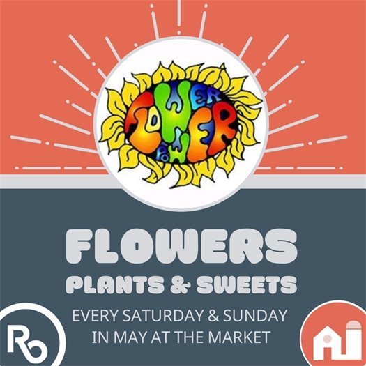 Flower Power at the Market Logo