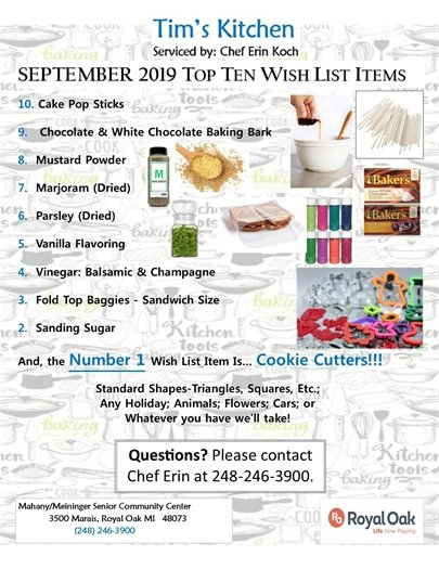 September Top Ten List Flyer