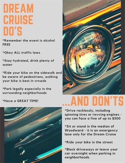 Dream Cruise Flyer