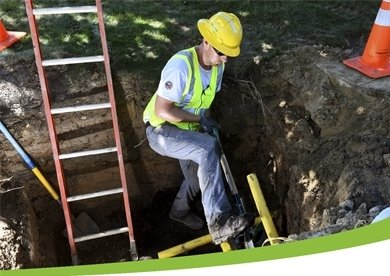 picture of worker digging