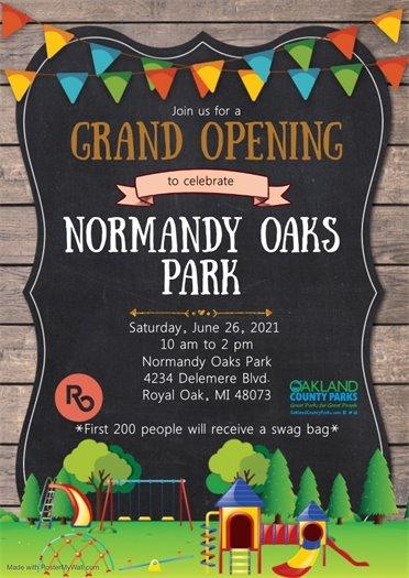Normandy Oaks Grand Opening Flyer