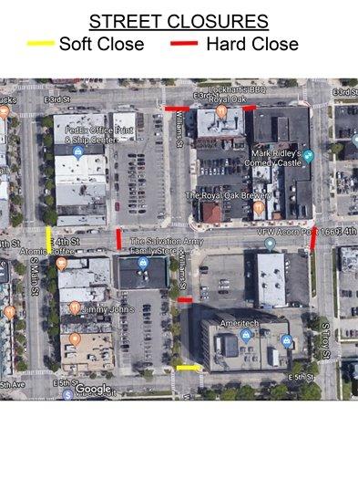 street closure map