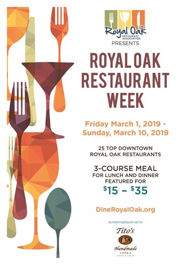 Restaurant Week Flyer