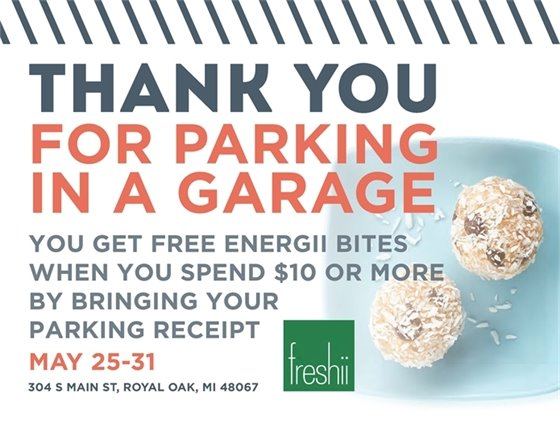 Freshi Thank You For Parking Poster