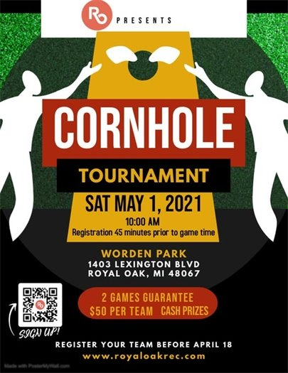 Cornhole Tournament Flyer