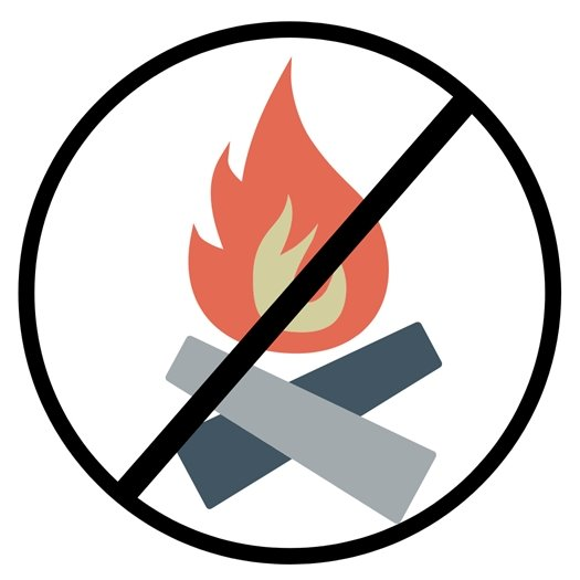 No Outdoor Fire Logo