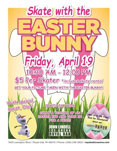 Skate with the Easter Bunny Flyer