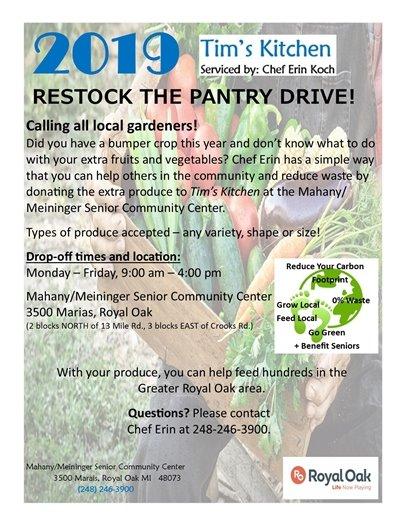 Garden Donation Flyer