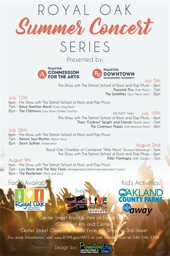 Summer Concerts Flyer
