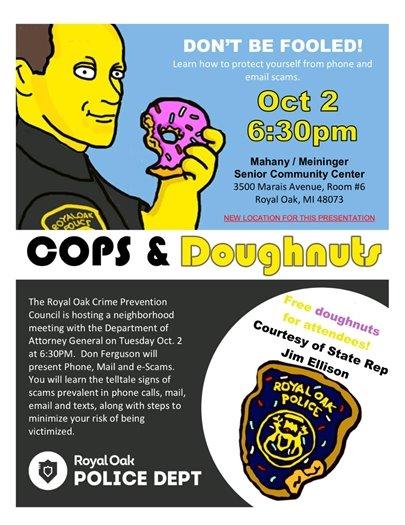 Cops and Doughnuts Flyer