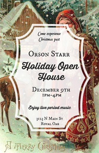 Orson Starr Holiday Open House