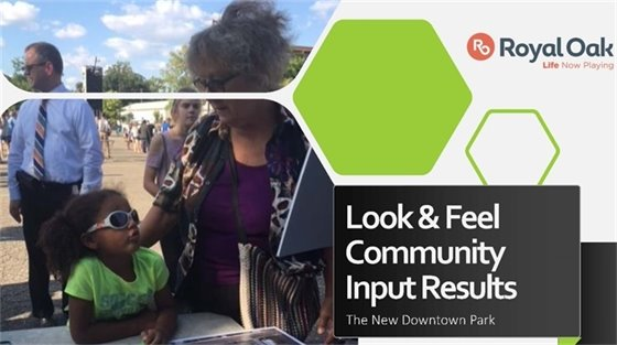 Look and Feel Report Cover Downtown Park