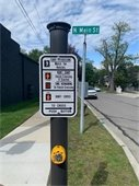 Crosswalk Signal Sign