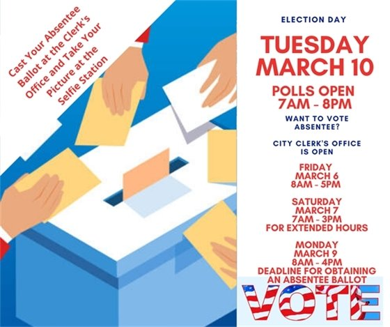 Absentee Ballot Clerks Office Flyer