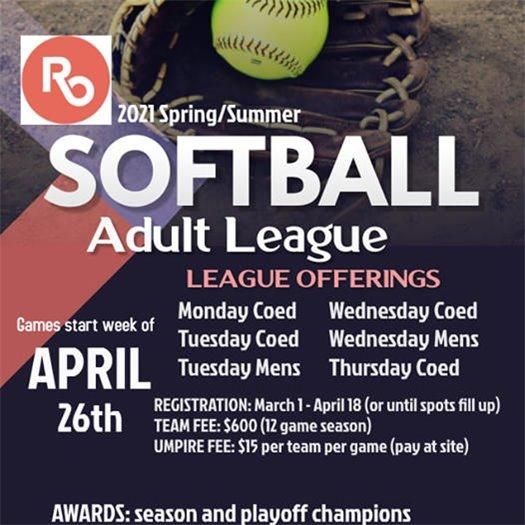 Softball League Ad