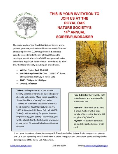 Nature Society Soiree Flyer