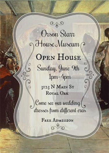 Orson Starr House Museum Open House Flyer