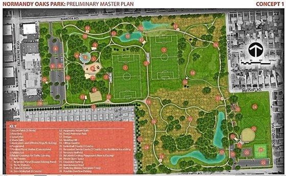 Normany Oaks Plan Drawing