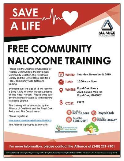 Community Naloxone Training Flyer