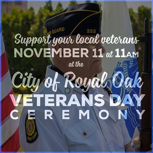 Veterans Day Ceremony Banner