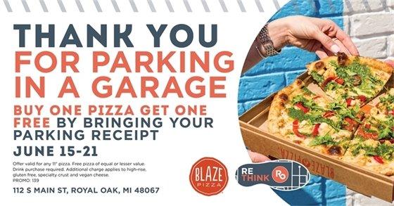 Blaze Pizza Flyer