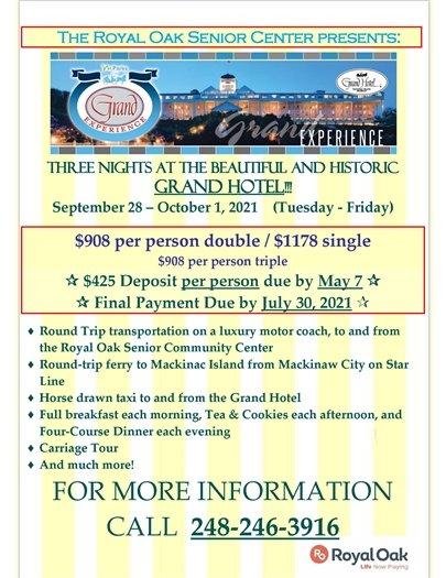 Mackinac Island Trip Flyer