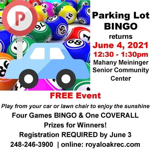 Parking Lot Bingo Flyer