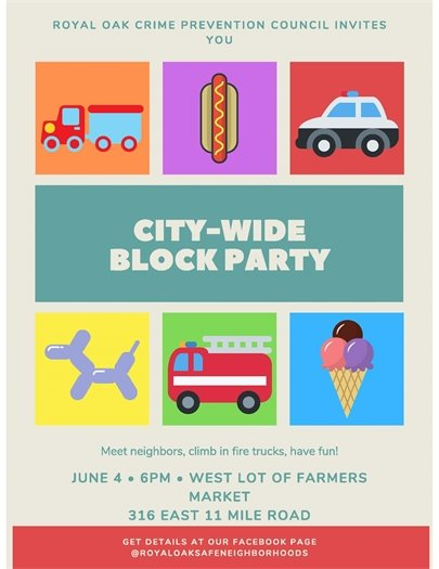 City Wide Block Party Flyer