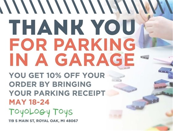 Toyology Thank You For Parking Flyer