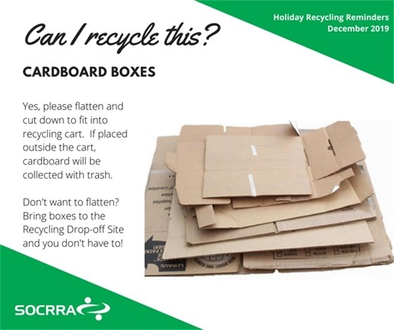 Cardboard Box Recycling Poster