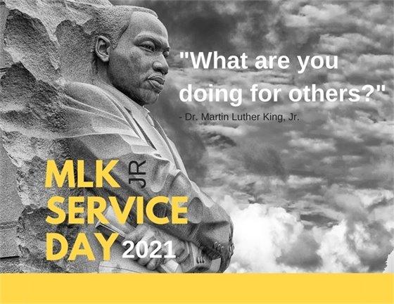 MLK Jr Day of Service Logo