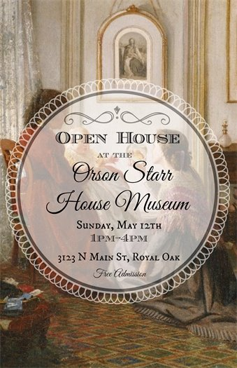 Orson Starr Mothers Day Open House Flyer