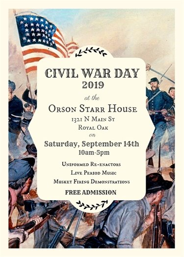 Civil War Day Flyer