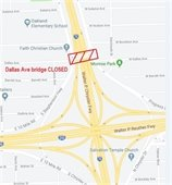 Map of Bridge Closure