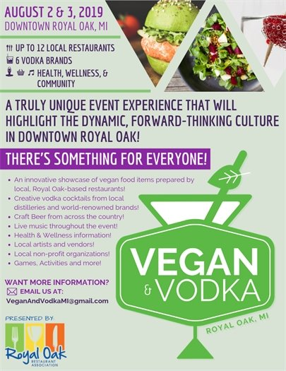 Vegan and Vodka Flyer