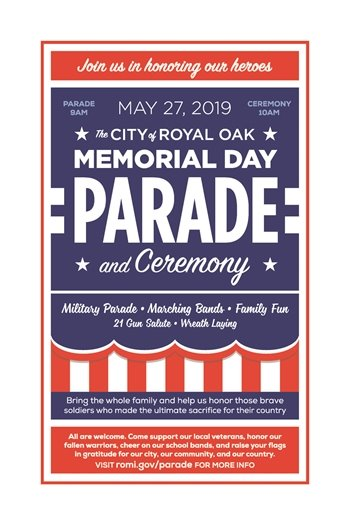 Memorial Day Parade and Ceremony Poster