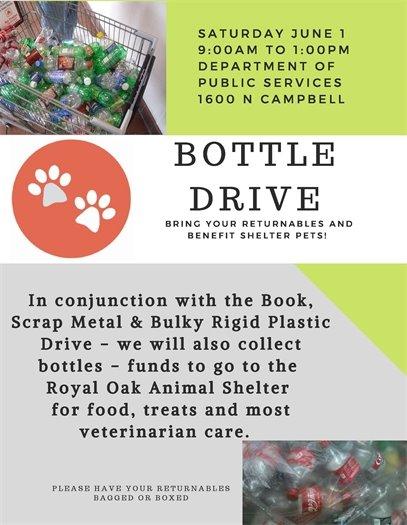 Animal Shelter Bottle Drive Flyer