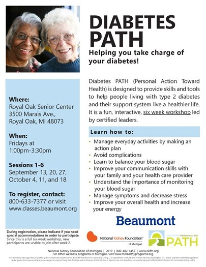 Diabetes Work Session Flyer