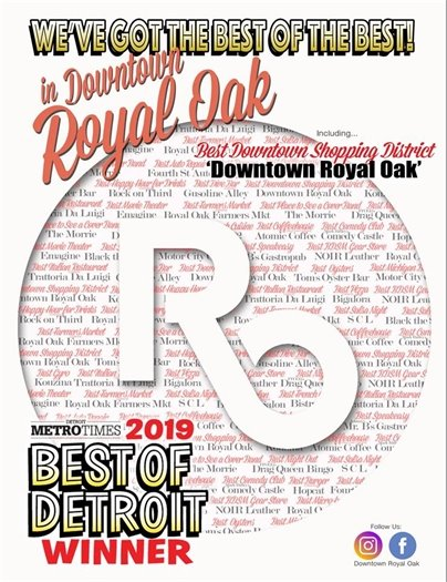 Best Downtown Shopping District Flyer