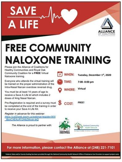 Narcan Training Flyer