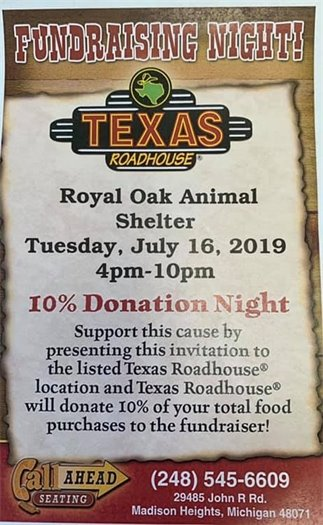 Animal Shelter Fundraiser Flyer