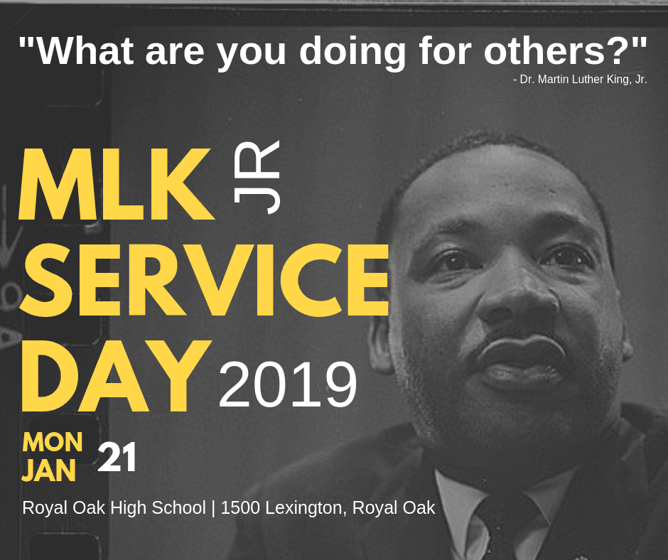 Mlk Service Day Royal Oak Mi