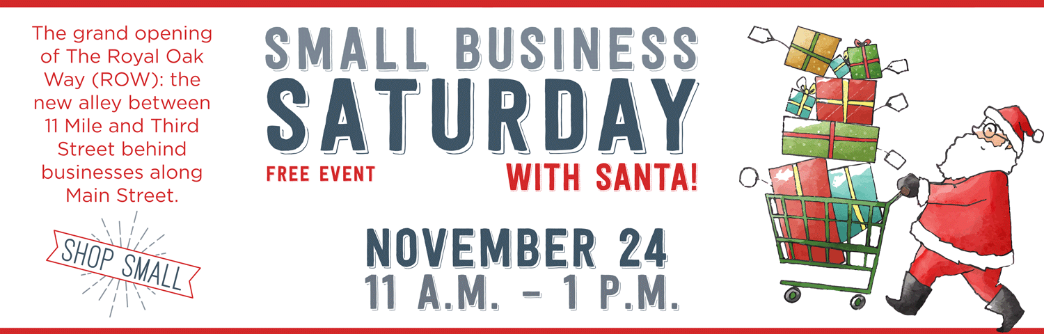 Small Business Saturday With Santa