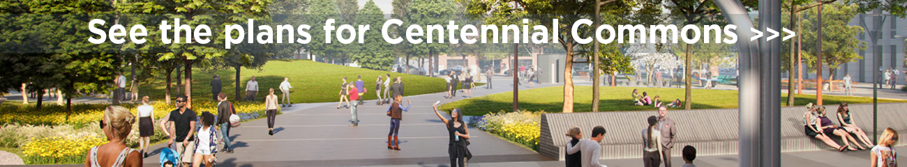 Centennial Commons Banner